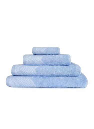 İrya New Leron Jakarlı Havlu Mavı 30*50 Mavi